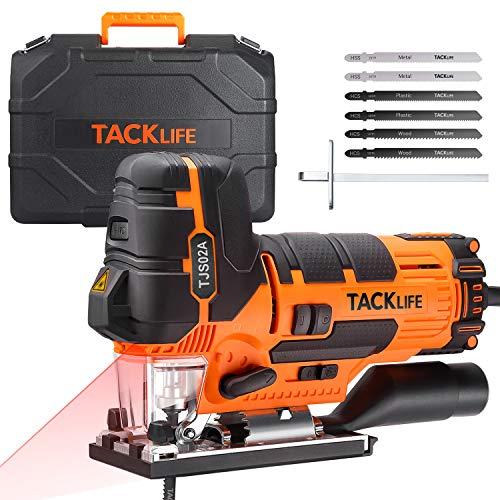 TACKLIFE 800 W Seghetto Alternativo con Laser Guida e 6 lame, Variatore...
