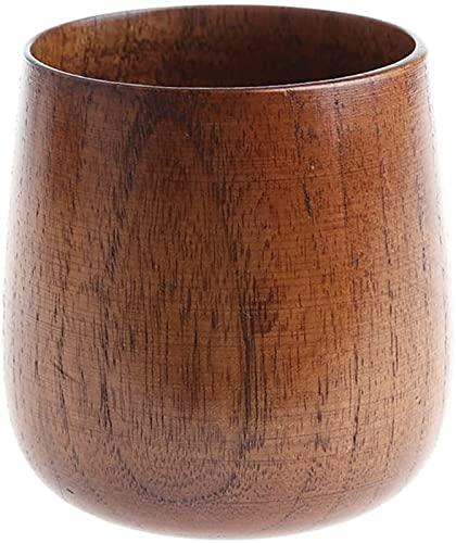 hwljxn Hölzerne Tasse Primitive handgemachte natürliche Holzkaffee-Biersaft-Milch-Tee-Tasse