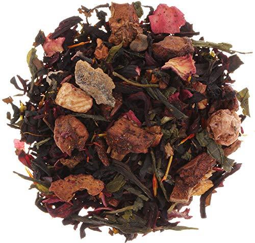 AURESA Eistee Pfirsich   Schwarztee und Grüntee mit Früchten   Spritzig erfrischende Tee Mischung für den Sommer