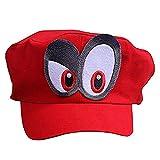 Super Mario Gorra Odyssey - Costume para Adultos y niños Carnaval y el Cosplay - Ojos a la Derecha
