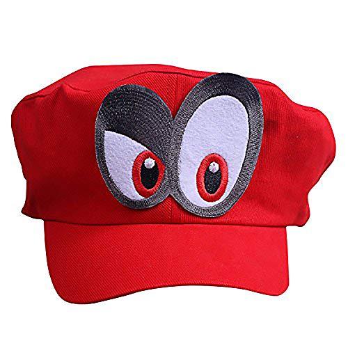 thematys Super Mario Odyssey Mütze Augen RECHTS - Kostüm-Set für Erwachsene & Kinder - perfekt für Fasching, Karneval & Cosplay