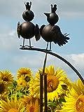 Pommerntraum | Vogelwippe | Gartenpendel | Gartenwippe | Windspiel Garten | Gartendekoration ** verliebte Vögel **