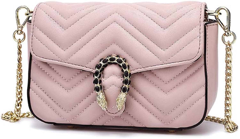 Sturdy New Wild Small Square Handbag Fashion Shoulder Messenger Handbag Large Capacity (color   Pink)