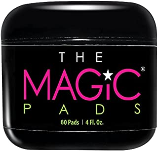 The Magic Pads - 2% Glycolic Acid Pads with USDA Certified Organic Extracts, Vitamin E, Hyaluronic Acid, Organic Willow Bark Extract, Organic Aloe Vera, 60 Count