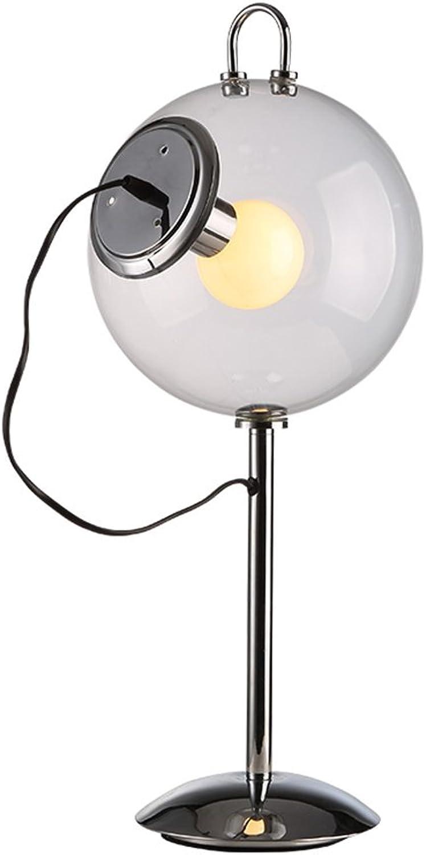 Glas Tischlampe Metall, Moderne Einfachheit europäischen Stil Stil Stil Schlafzimmer Bedside Jobs Lernen Studie Lampe Seifenblase Lampe Power Switch-Taste E27  1  40W Energie sparen B07JVFN7JQ     | eine große Vielfalt  5bbca4
