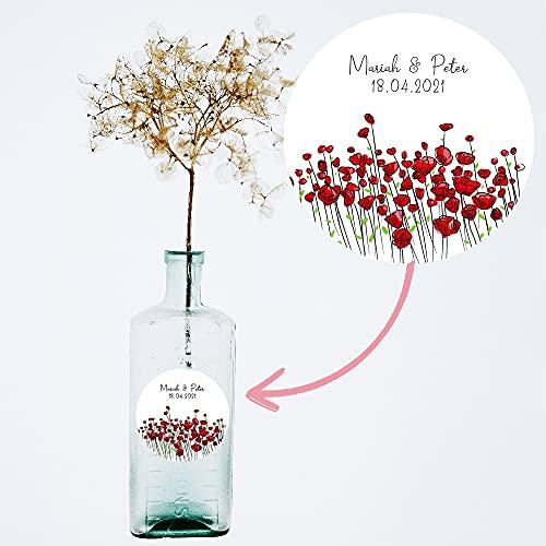 Etiquetas decorativas regalos de boda. Modelo: Field