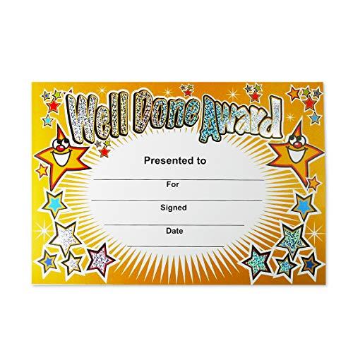 SuperStickers Bien hecho Premio Sparkling Aula Certificado, certificados a5
