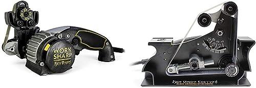 Work Sharp Knife & Tool Sharpener Ken Onion Edition & WSSAKO81112 Blade Grinder Attachment