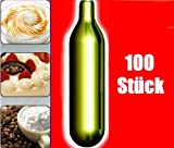 NEMT 100s 100 Stück N2O Sahnekapseln, passend für alle handelsüblichen Sahnebereiter von Liss, Mosa, iSi,...