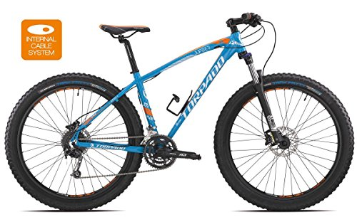 TORPADO Bici MTB Jupiter 27,5'' Plus Alu 3x10v Disco Taglia 40 Azzurro (MTB Ammortizzate) / Bicycle MTB Jupiter 27,5'' Plus Alu 3x10s Disc Size 40 Light Blue (MTB Front Suspension)