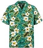 KY`s Original Camicia Hawaiana, 3 Colours, verde M
