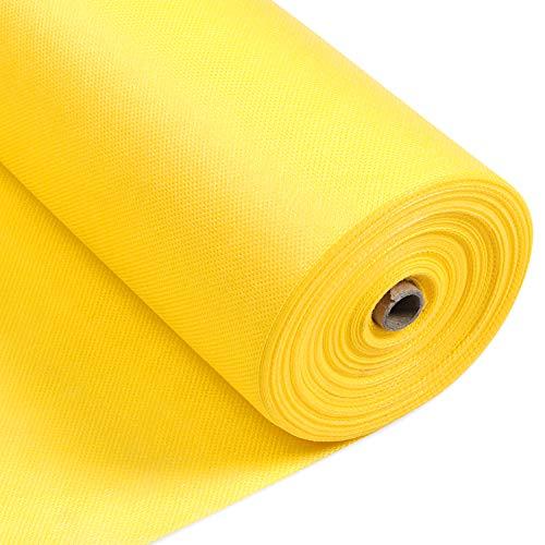 LONGING HOME Tischdeckenrolle, 1.2 × 25M, Gelb, Einweg Vlies Stoffähnlich Tischdecke Rolle, Meterware Tischtuchrolle, Geeignet Für Geburtstag, Party, Deko