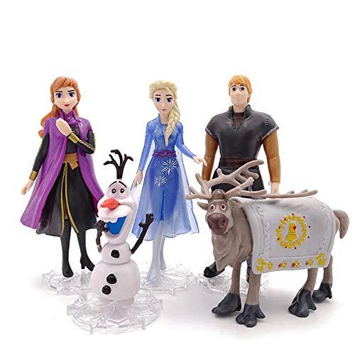 NamekPlanet - Lot de 5 Figurines La Reine des Neiges 2 Jouets - 8 à 10cm