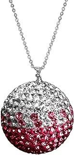 UZHOPM Fashion Car Rear View Mirror Pendant Crystal Ornament Lucky Crystal Ball Car Accessories