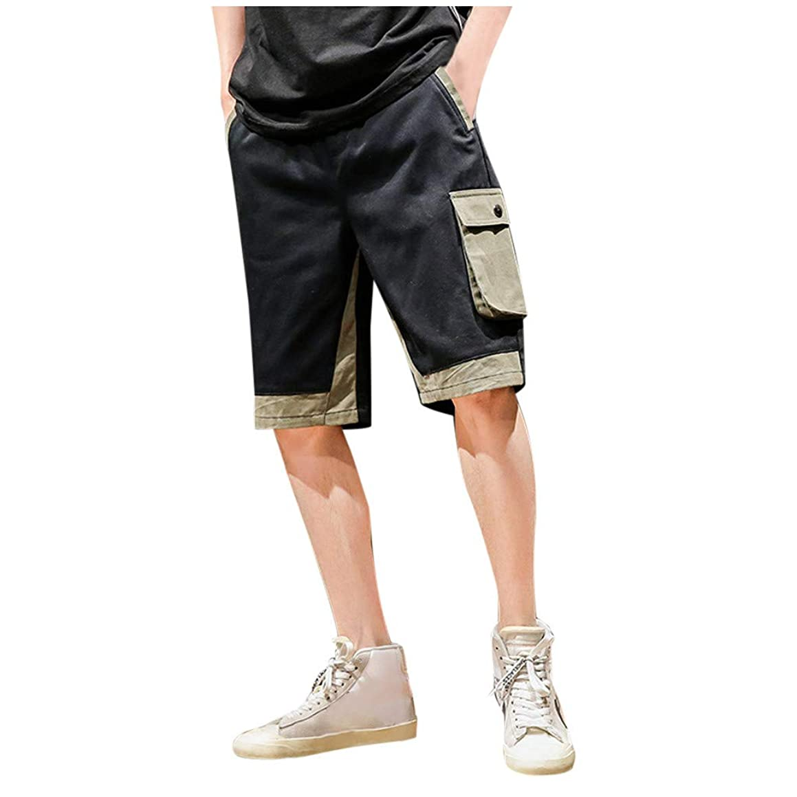 Answerl? Men's Outdoor Lightweight Hiking Shorts Quick Dry Shorts Sports Casual Elastic Waist Drawstring Shorts with Pocket