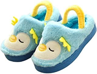 Toddler Kids Indoor Cute Slippers for Girls Boys Plush Soft Cartoon Bedroom House
