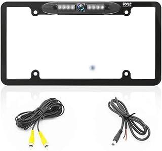 License Plate Frame Backup Camera - Built-in Distance Scale Lines Backup Parking Reverse Assist Marine Grade Waterproof IP...