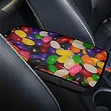 Cubierta del reposabrazos de la consola central del coche Jelly Beans Candy Sugar Sweets Verde Morado Rojo Cojín del...