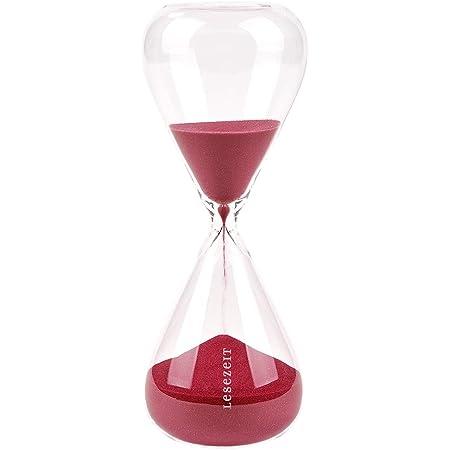moses. libri_x - Clessidra per la lettura di clessidra, in vetro, con durata di 30 minuti, colore: Rosso