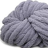 Storage Bag Chenille Chunky Wolle Garn, 250 g, super weiche grobe Wolle Strickdecke DIY Handwerk Handstricken