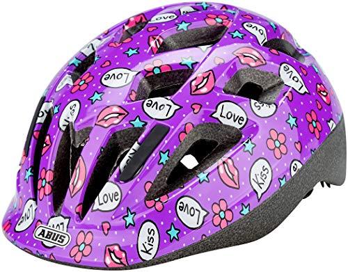 ABUS Smooty 2.0 Kinderhelm - Robuster Fahrradhelm für Kleinkinder im Beifahrersitz - für Mädchen und Jungen - 81857 - Lila mit Muster, Größe M