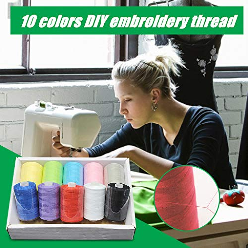 Purchase 10 Color Household Color Polyester Sewing ThreadEach Polyester All Purpose for Hand and Mac...