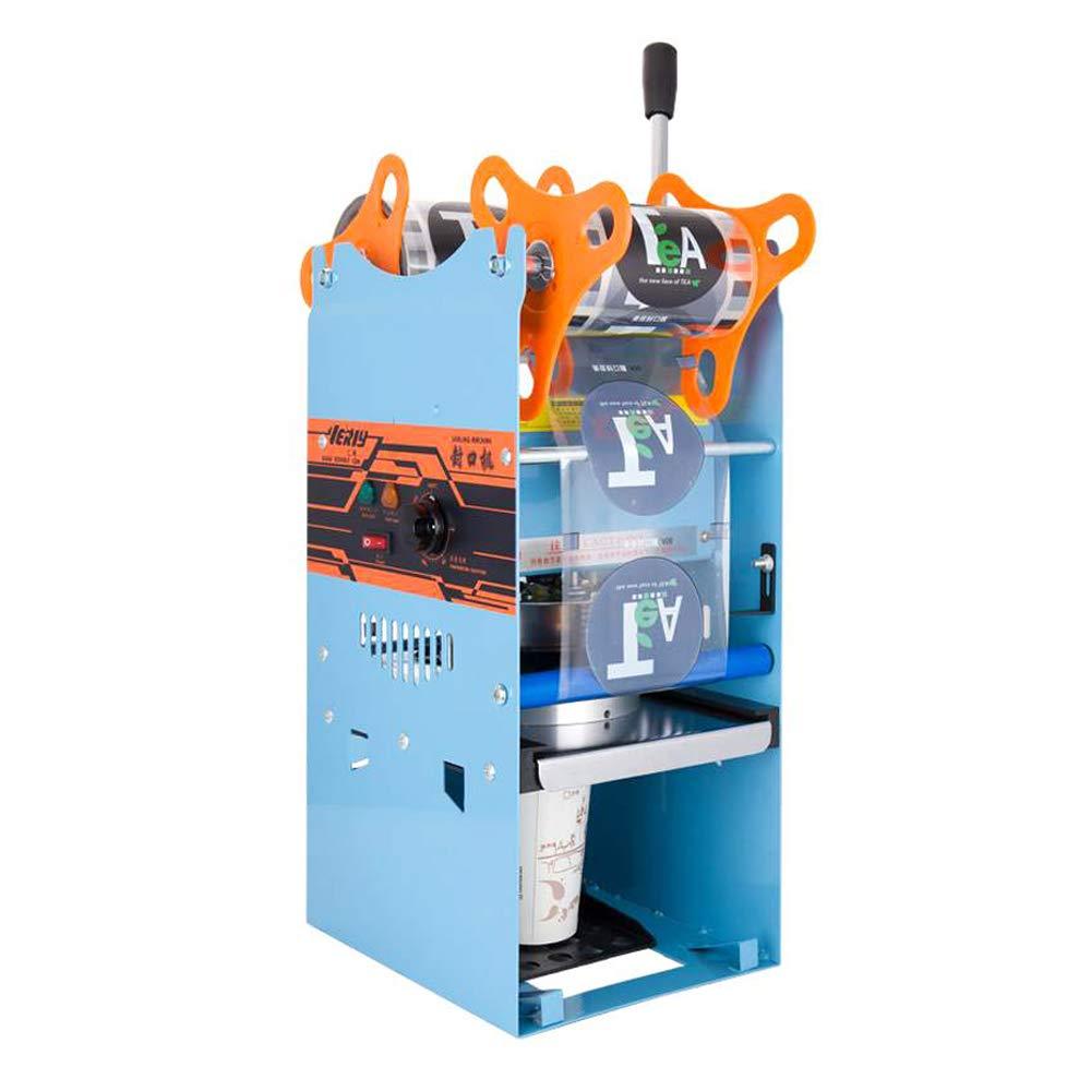 YJINGRUI Máquina Selladora de Vasos de Plástico y Papel Manual Selladora de Copas Comercial Adecuada para 90/95mm de Diámetro 0-180mm de Altura 220 V (Maquina de sellado)
