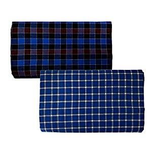 Riyashree men's cotton lungi for men free size 2 meter Flungi 009 018