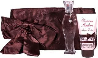 Christina Aguilera Royal Desire Gift Set 1.0oz (30ml) EDP + 1.7oz (50ml) Body Lotion + Satin Evening