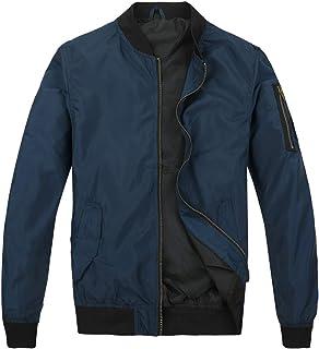 Mens Bomber Jacket Lightweight Slim Fit Softshell Windbreaker