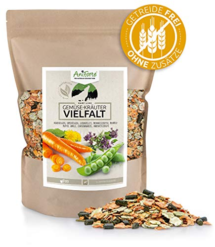 AniForte Barf additivo per cani Varietà di ortaggi 1kg - prodotto naturale, alimento supplementare Barf, senza cereali, senza glutine, fiocchi senza additivi artificiali