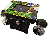 Prime Arcades Cocktail Arcade Machine 412 Games in 1 Commerical Grade with Set of 2 Chrome Stools 5 Year...