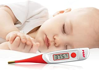 Reer 9840 Digitale Express Fever Thermometer, Seconden, 23 x 5 x 5 cm, Wit/Rood