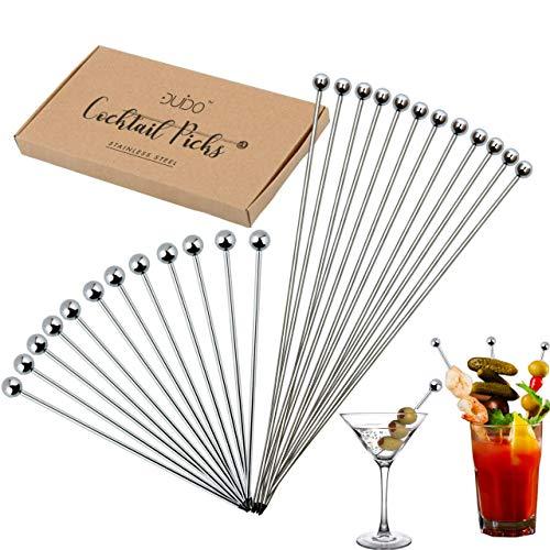 Cocktail Picks Martini Stirrers Toothpicks – (24 Pack / 4 & 8 Inch)...