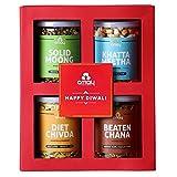 Omay Foods Crunchy Treats Gift Box I Diwali Gift Hamper I Corporate Gifts I Personal Gift Box I Dry-Fruits, Healthy Snacks, Premium Gift Hamper