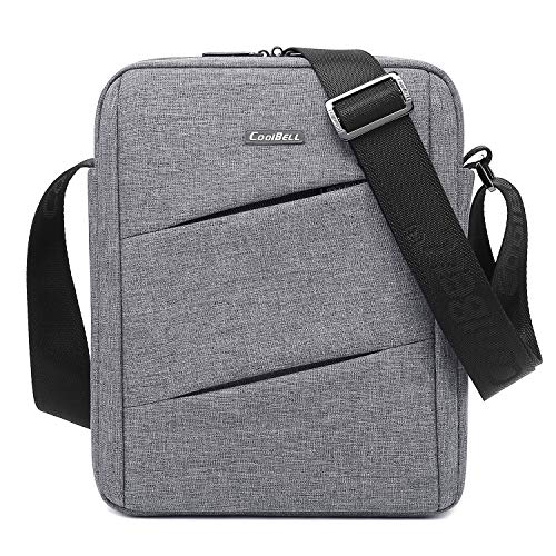 Small Shoulder Bag Men's Messenger Bag Casual Crossbody Bag Fits 10.6 inch Tablet & iPad...