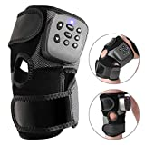 Electric Heat Knee Brace Wrap, Heated and Vibration Massage Knee Compression Sleeve and Joint Pain Relief Massager