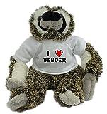 Bradypus de peluche con Amo Bender en la camiseta (nombre de pila/apellido/apodo)