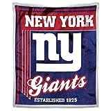 NORTHWEST NFL New York Giants Mink Sherpa Throw Blanket, 50' x 60', Old School