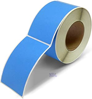 Next Day Labels, 3 X 5 Rectangle Inventory Color Coding Labels, 500 Per Roll (Fluorescent Blue)