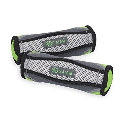gaiam Handgewichte für Damen & Herren, weiche Hantel-Sets mit Handschlaufe, für Walking, Laufen, Physiotherapie, Aerobic (erhältlich in 2lb und 4lb Sets)