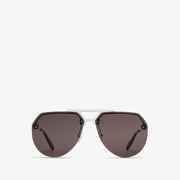 Alexander McQueen  AM0139S (Palladium/Havana 1) Fashion Sunglasses