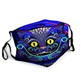 Wiederverwendbarer Gesichtsschutz Mundschutz Der Kopf der Cheshire-Katze aus dem Märchen Alice in Wir sind alle verrückt