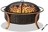 Centurion unterstützt Fireology CAPULET Eleganten Garten & Patio Heizung, große Feuerstelle, Grill-Kupfer-Finish