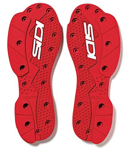 SIDI SRS Supermoto Sohle rot - Standard Paar SRS Ersatz Sohle Größe 45-46