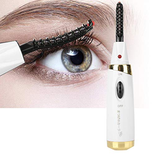 Curled Lasting Eyelash Curler portátil para el estilismo de pestañas (carga blanca)