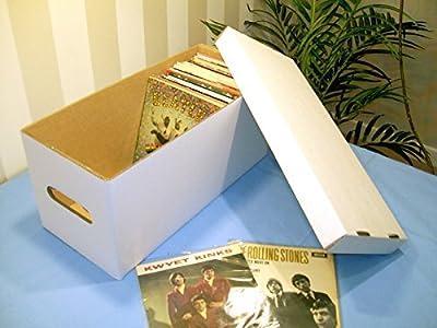 "7"" SINGLE WHITE STORAGE BOX - HOLDS 180-200 RECORDS!"