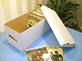 "7"" SINGLE WHITE STORAGE BOX - HOLDS 180-200 RECORDS!"