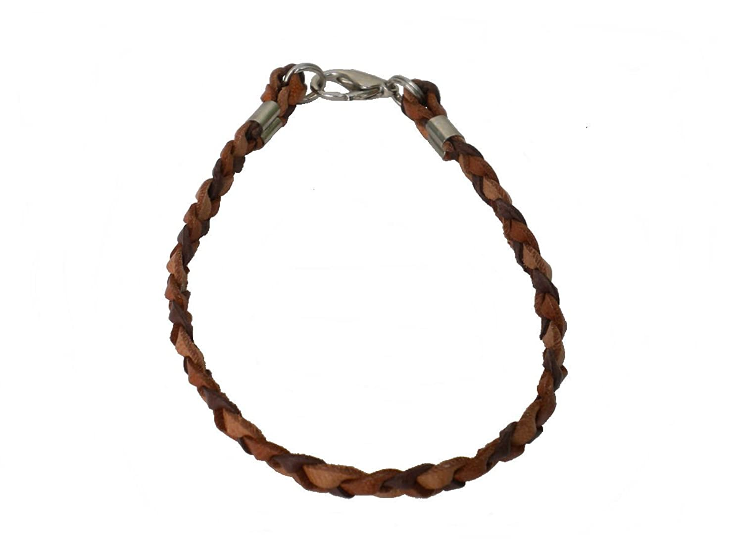 Bracelet/Anklet Braided Leather Mens or Womens 1/4