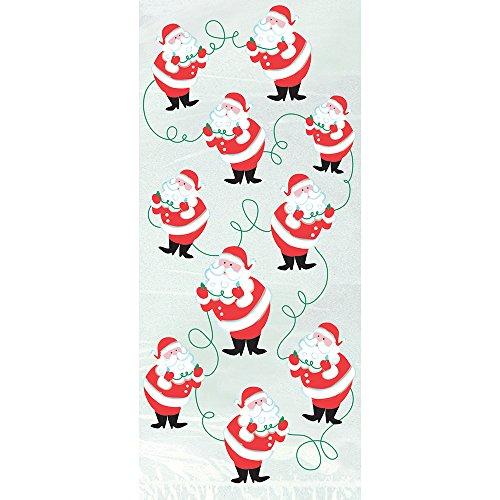 Zellophantüten mit Weihnachtsmann-Aufdruck, Weihnachts-Party-Tüten, 20Stück